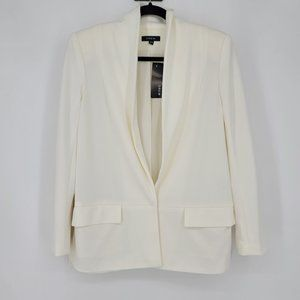 Drew Deep V-Neck Pocket Blazer Jacket Sz XS
